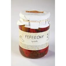 Feferony špičaté sterilované 610g