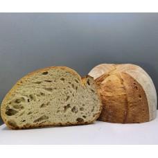 Kváskový pšeničný  chléb se škvarky,  700g